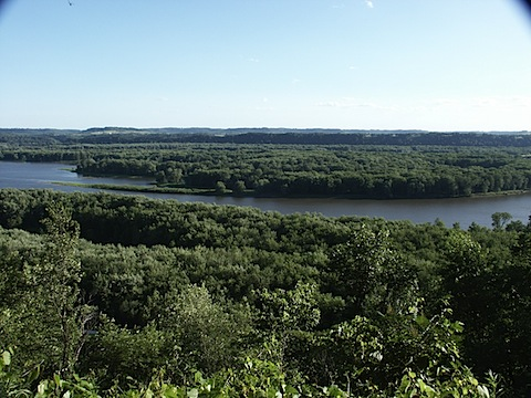 View of the Mississippi River from my tent
