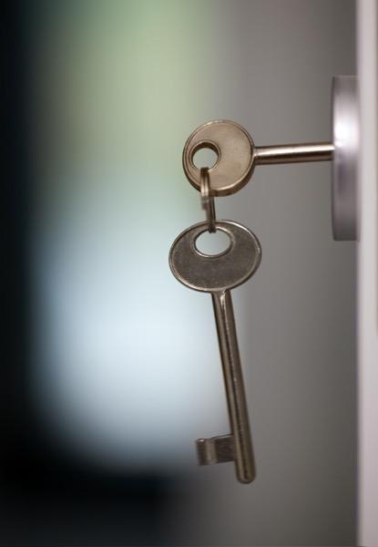 image of keys in a lock